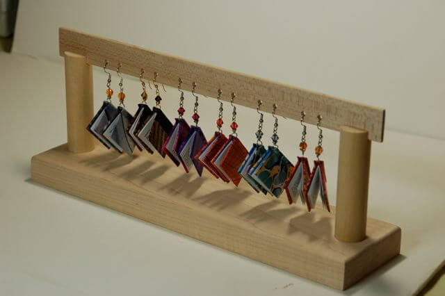 Six sets of earring books