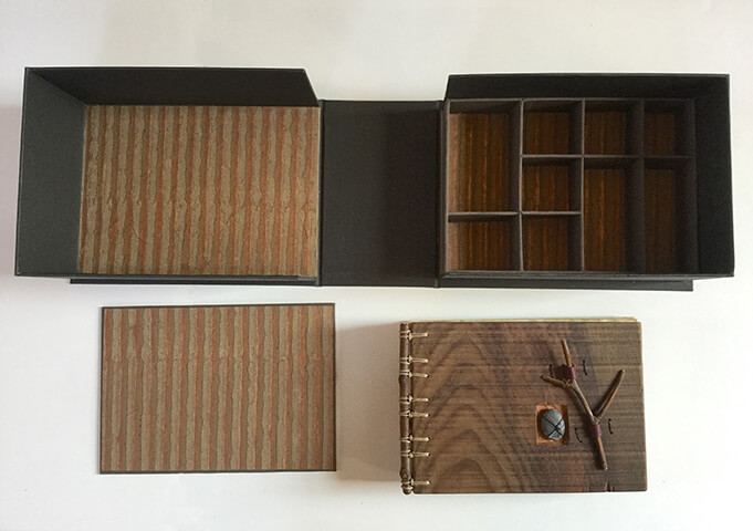 Redwood Journal and Clamshell Box & Removable Tray